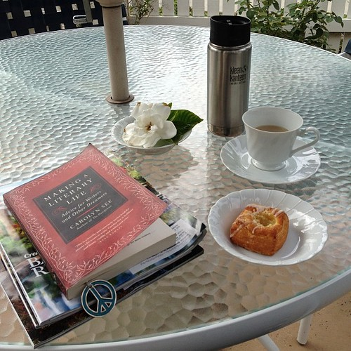 Lovely way to begin the day. #danapoint #beachweather #EarlGrey #gardenia