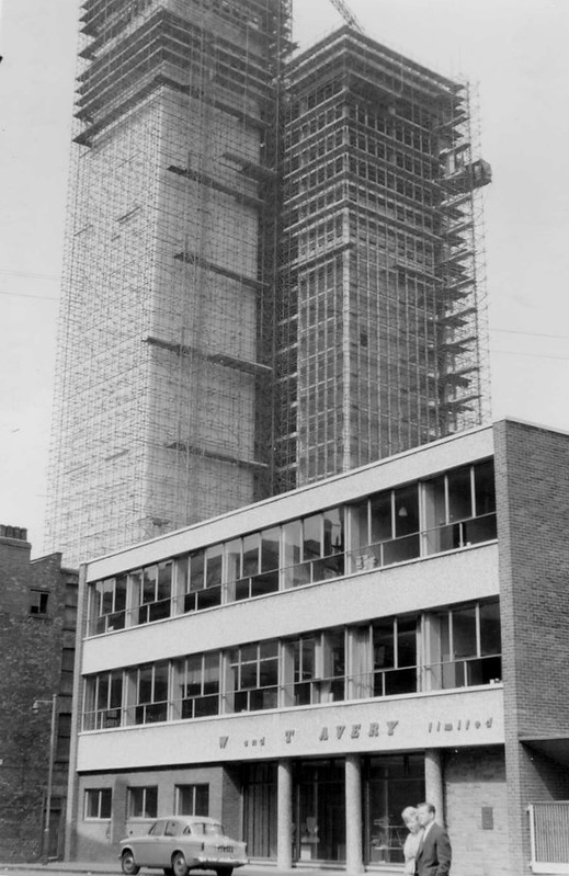CIS Building under construction, April 1962