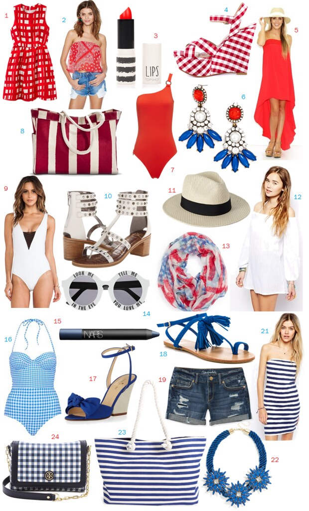 Red White & Blue Must Haves on #LivingAfterMidnite