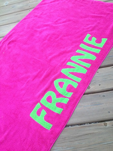 personalized beach towels from sew eio giveaway simplicity in
