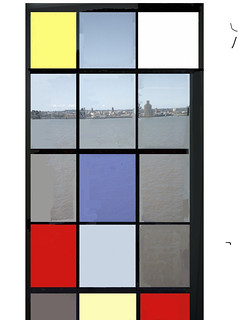 Following Backstudio's pioneering example I am putting this one in as well as my main submission. On a recent visit to Tate Liverpool to see the Mondrian exhibition we were told that taking photos was forbidden but we could take snap of the Mersey from ou