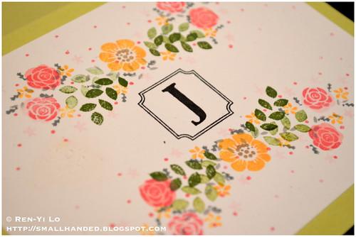Monogrammed Blank Card