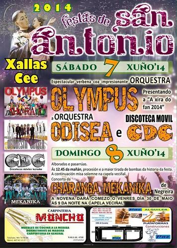 Cee 2014 - Festas de Santo ANtón en Xallas 2 - cartel