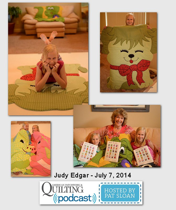 Pat Sloan American Patchwork and Quilting radio Judy Edgar July 204 guest