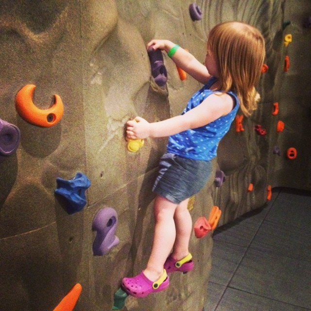 My little climber (at the museum of play)
