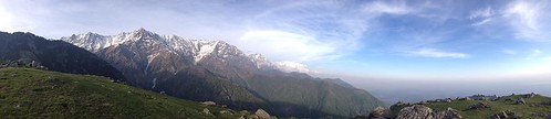 Triund mountains, sleeping under sars, shepard and goats