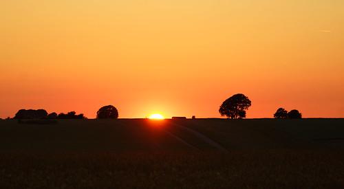 uk trees light sunset sky sun colour june landscape fire midsummer sundown silhouettes clear solstice end wiltshire salisburyplain lastlight summersolstice litha stevemaskell 2014 longestday wilts potd:country=gb yahoo:yourpictures=powernature
