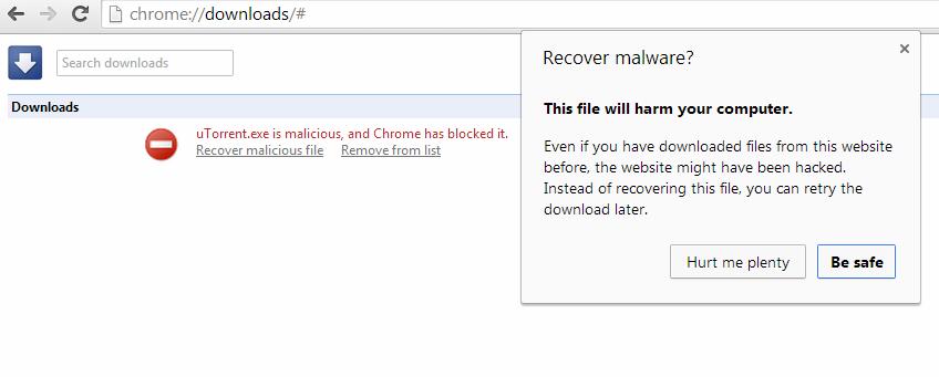 Google считает uTorrent вредоносной программой