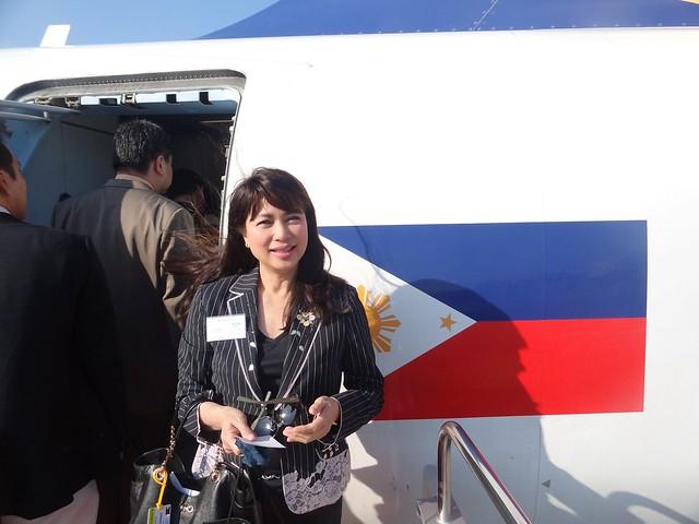 Presidential flight to Tokyo, Japan