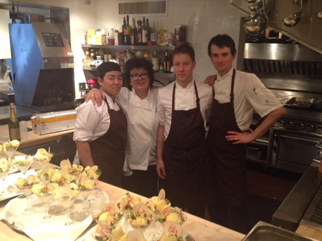 Australian Chef Alla Wolf-Tasker and her crew