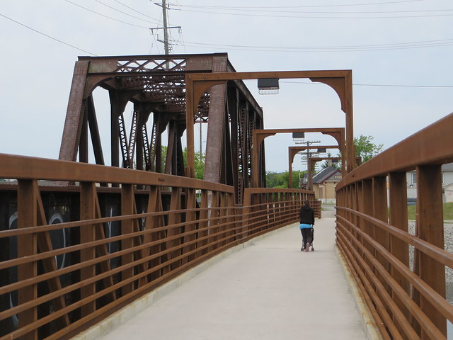 Foot/cycle bridge next to CP Railway