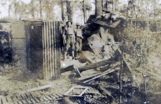 Ploegsteert Wood-Sgt Kidman & self