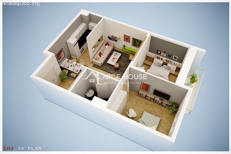 Thiết kế nội thất chung cư La Khê - Hà Nội_5