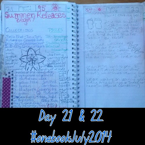 #onebookjuly2014 day 21 & 22: on day 21 I have a list of my favs from the scrapbooking summer releases, and day 22 atty started taking her first steps by herself