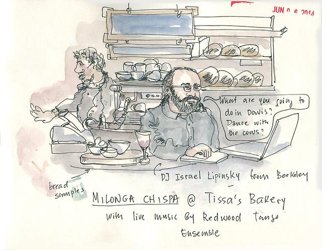 DJ Israel Lipinsky at Milonga Chispa