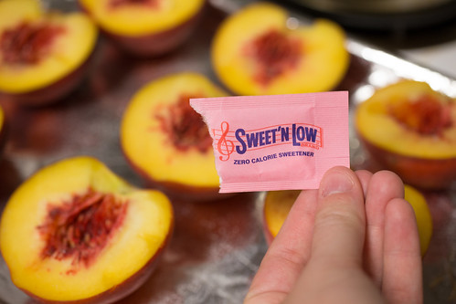 Roasted Peaches with Sweet'N Low #SweetNLowStars
