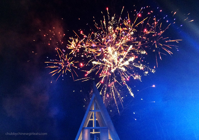 chubbychinesegirl wedding in Bali - infinity chapel fireworks