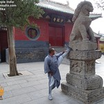 Kung fu Stretching at the Shaolin I=Temple China