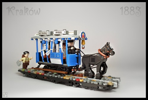 Horse-drawn tram (summer version) - Cracow 1883