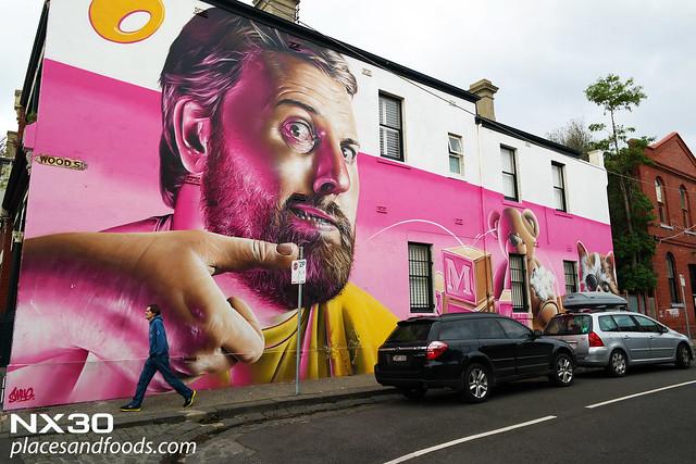 melbourne day 2 pink graffiti