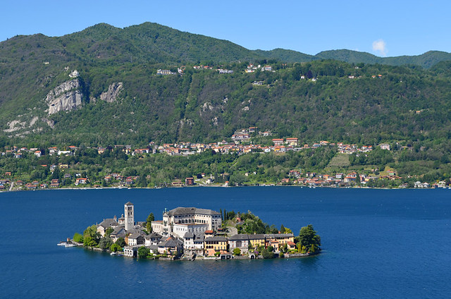 The Isola di San Giulio and Lake Orta, Italy
