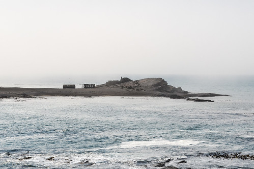Ruins of early guano workers on Halifax island, Lüderitz, Namibia