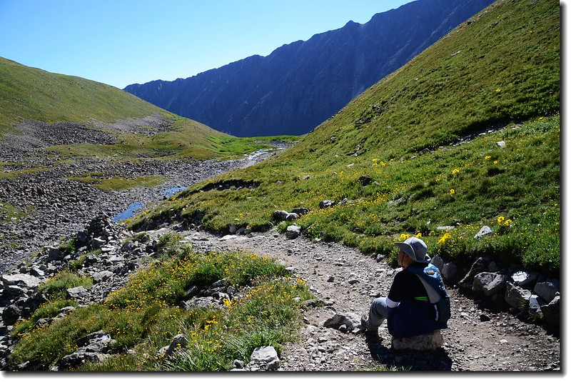 Jacob is taking a break at the Grays Peak trail 2