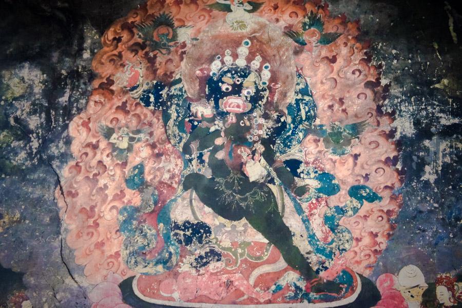 Роспись стен Шей гомпы. Гомпа и Дворц Шей © Kartzon Dream. Монастыри Ладакха (Монастыри малого Тибета) - авторские путешествия, авторские туры в Ладакх, тревел фото, тревел видео, фототуры