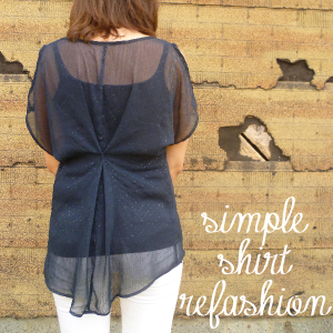 Simple Shirt Refashion by Hey, It's SJ