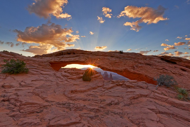 Sunrise between the Mesa Arch - Canyonlands National Park