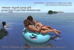 -Hanaya- Arm Floaties + Innertubes GROUP GIFT  (group free to join Aug 1, 2 + 3)