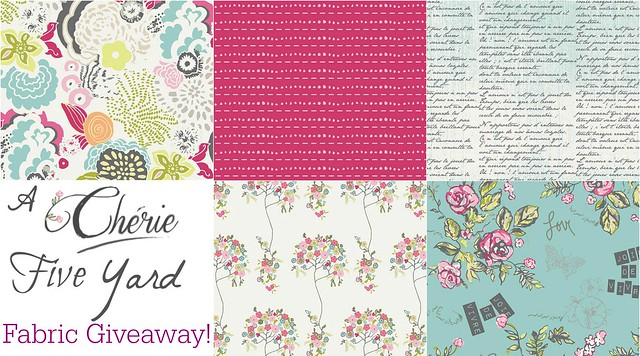 Cherie FIVE yard Giveaway!!