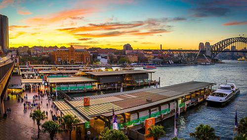 sunset sydney australia circularquay newsouthwales sydneyharbourbridge canon5dmkiii