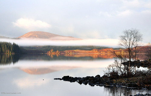 morning mist mountain lake clouds sunrise landscape scotland illumination highland d90 nikon90