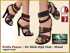 Bliensen - Pretty Poseur - Shoes for Slink High - mixed