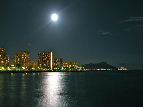 Waikiki Under the Super Moon