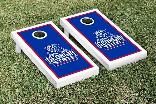 Georgia State Panthers Cornhole Game Set Border Version