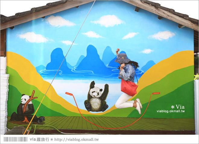 【雲林熊貓村】斗南鎮石龜熊貓村~最新!超萌又生動的立體3D畫彩繪村再一彈!29