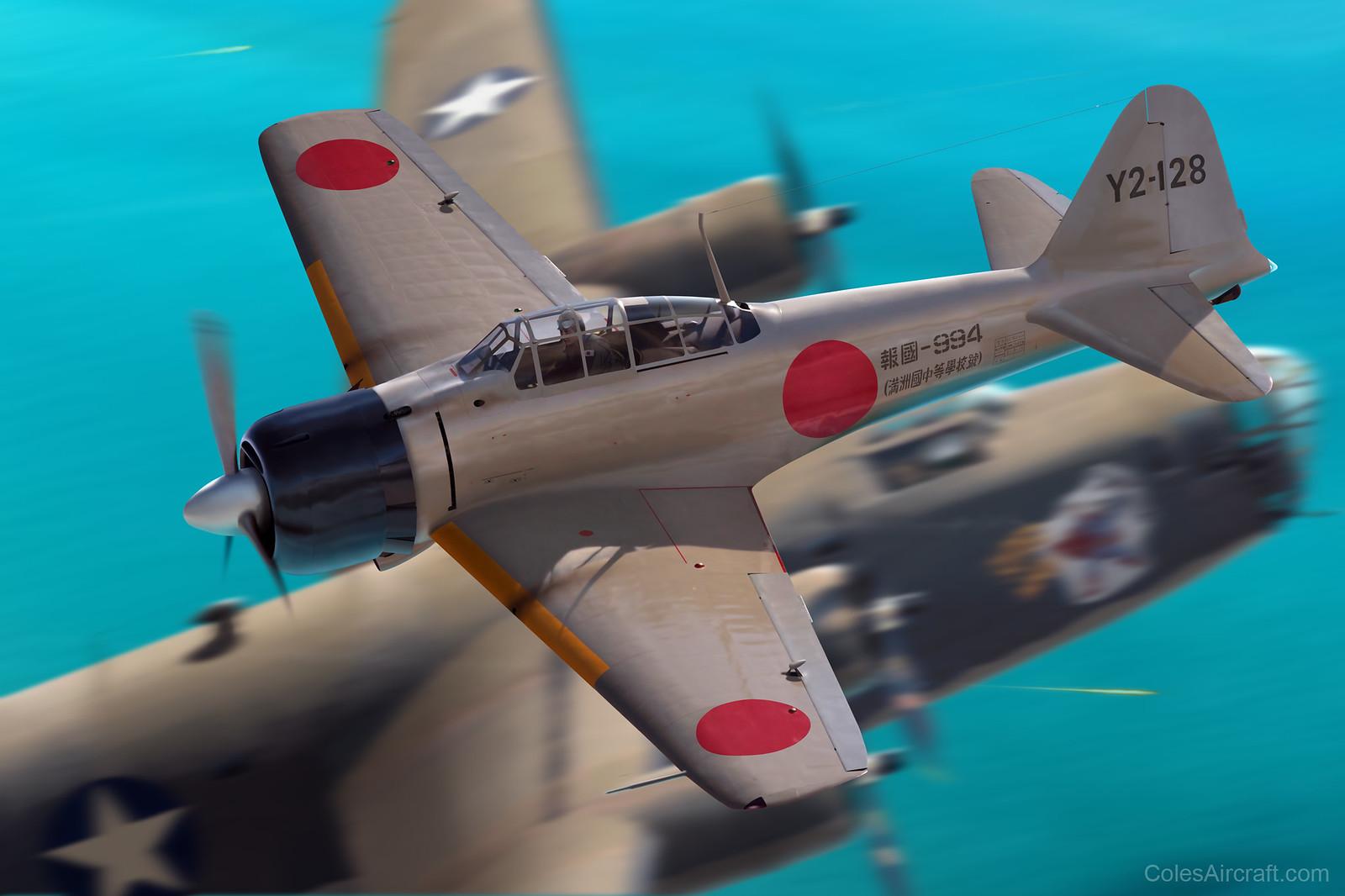 рисунок Зеро атакует Б-24