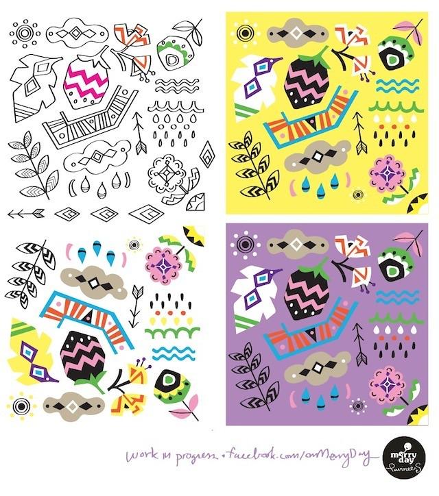 MAKE IT IN DESIGN summerschool week 2 : tribal pattern