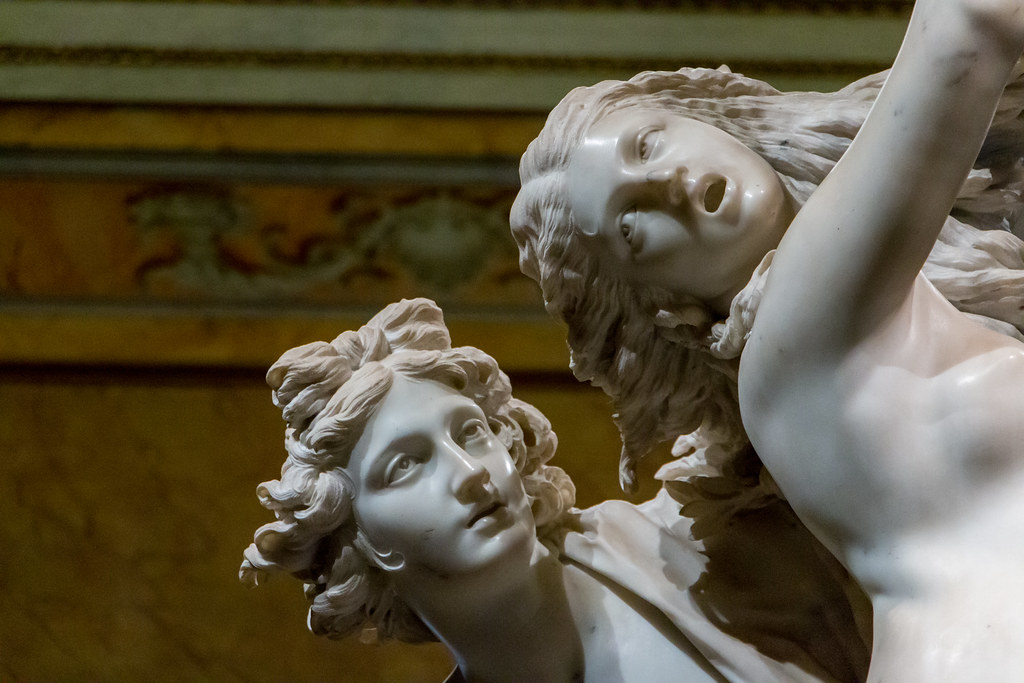 Bernini sculpture, Apollo and Daphne.