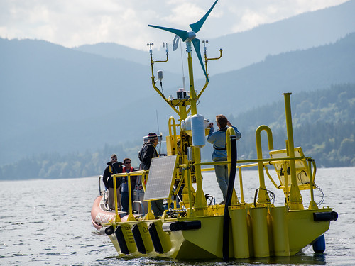 Offshore Wind Buoy with Staff Aboard