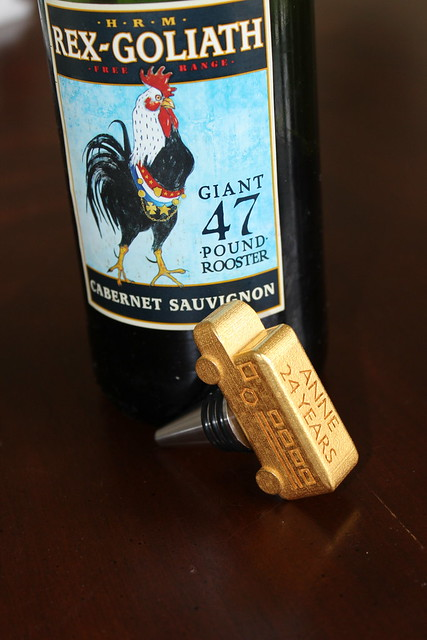 School Bus Wine Stopper with Wine