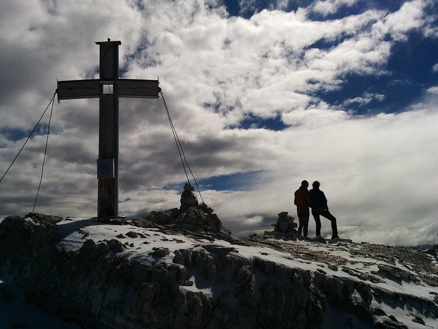 Gipfelkreuz Hochbrunner Schneid 3.046 m, Sextner Dolomiten