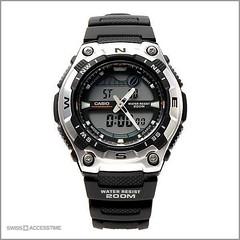 Casio Men\'s Ana-digi AQW1001AV Digital Round Strap Black