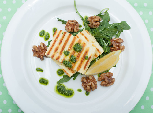 Halloumi & Rocket Pesto Salad
