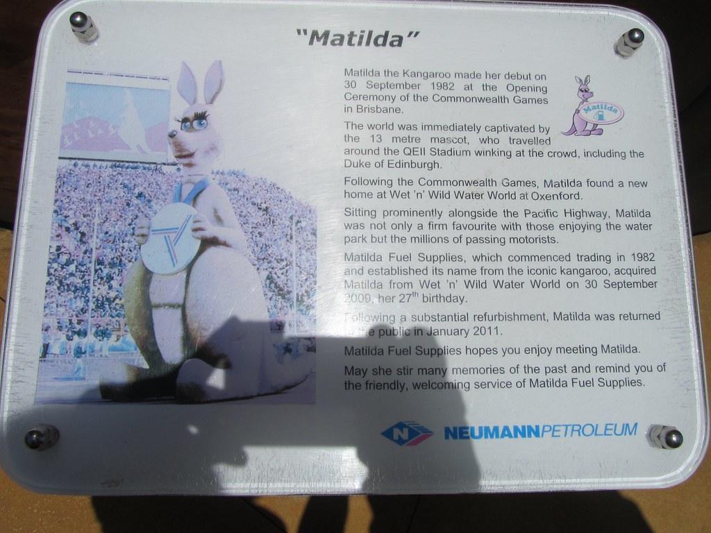 Historia de la mascota Matilda