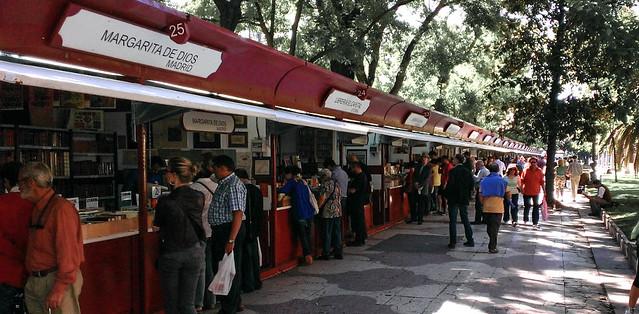 Madrid outodoor book market