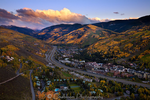 autumn fall colors colorado dusk vail i70 interstate70