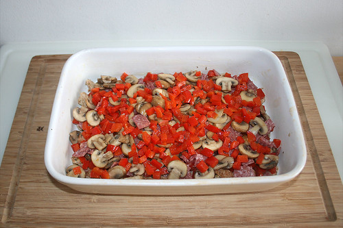 36 - Champignons & Paprika addieren / Add mushrooms & bell pepper